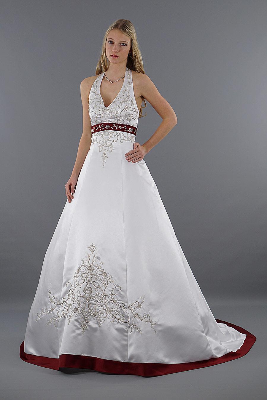Brautkleider in Rot & Weiß | Brautkleider auf Lager | Schmetterling ...